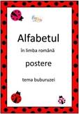 Ladybug Alphabet Posters in Romanian, Buburuza Postere cu