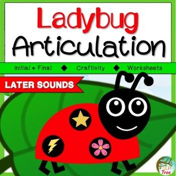 Ladybug Articulation Craftivity Later Developing Sounds
