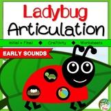 Ladybug Articulation Craftivity Early Developing Sounds