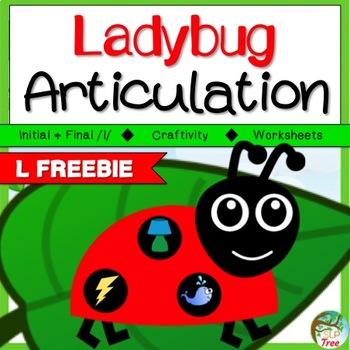 Ladybug Articulation Craftivity /l/ Free