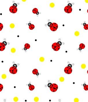 Ladybug Backgrounds, Borders, and Digital Paper