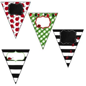 Ladybug Banner~ EDITABLE