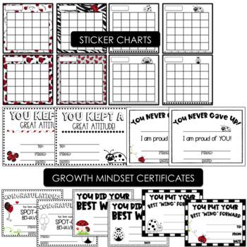 Ladybug Behavior Clip Chart- Editable