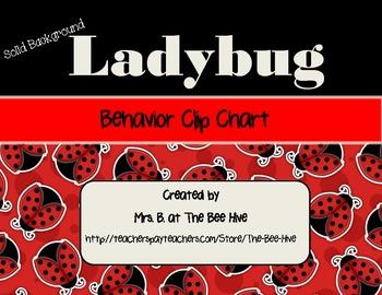 Ladybug Behavior Clip Chart - Solid Backgrounds