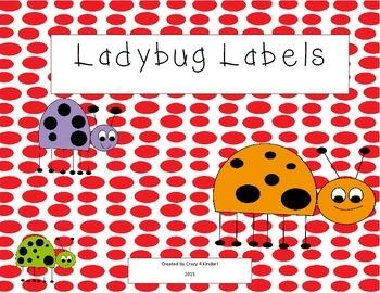 Ladybug Binder Labels