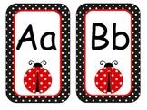 Ladybug Black Polka Dot Letters Bilingual Set