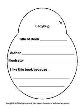 Ladybug Book Report