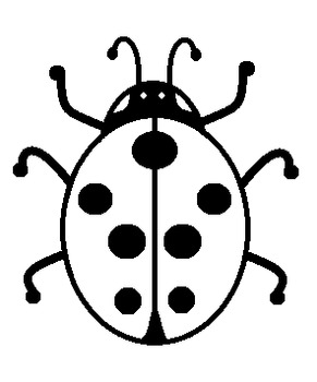 Ladybug Bubble Map printable- unlabeled