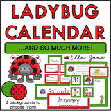 Ladybug Calendar Bulletin Board Set