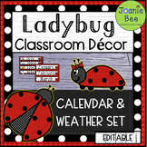 Ladybug Calendar and Weather Set (EDITABLE)