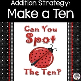 Make A Ten in 3 Addends Addition PowerPoint and Worksheets