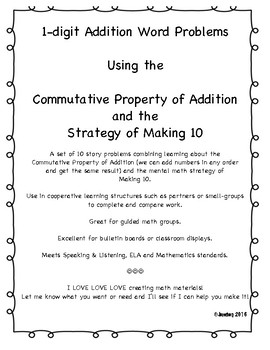Ladybug & Caterpillar-themed - Commutative Property, Making 10 and Sums to 10