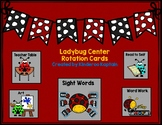 Ladybug Center Rotation Cards