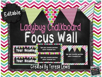 Chalkboard Customizable Focus Wall