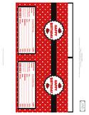 Ladybug Chocolate Candy Bar Wrapper