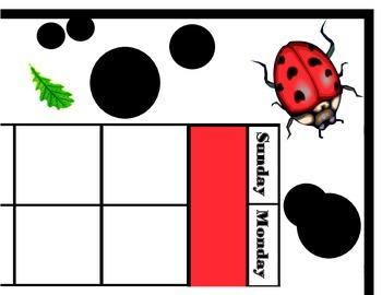 Ladybug Calendar Set! Ladybug Bulletin Board! Ladybug Them