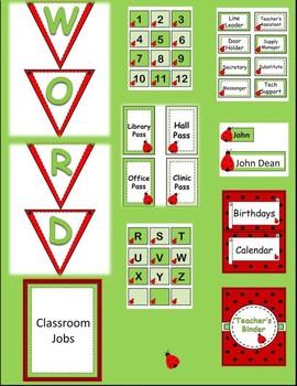 Ladybug Classroom Decor