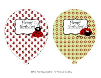 Ladybug Classroom Decor Birthday Balloons (4 different patterns)