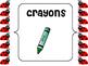 Ladybug Classroom Labels