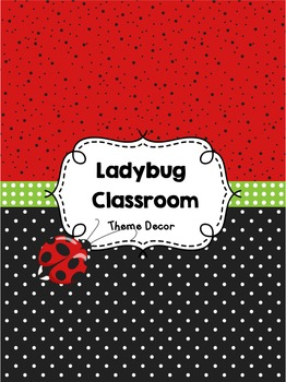 Ladybug Classroom Theme Decor