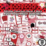 Classroom Theme Decor / Organization - Mega Bundle (Editable!) - Ladybug