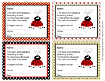 Ladybug Clean Desk Awards