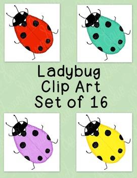Ladybug Clip Art Bundle PNG JPG Blackline Commercial Personal Ladybird