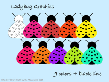 Ladybug Clip Art {Graphics for Personal or Commercial Use}