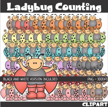 #buyin Ladybug Math Counting Addition Clip Art