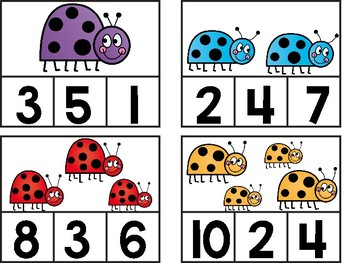 Ladybug Clip Cards