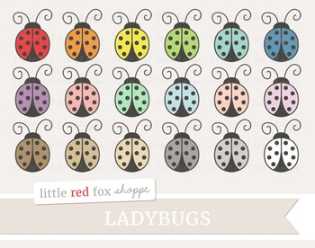 Ladybug Clipart; Insect, Bug
