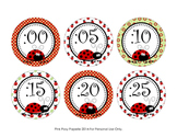 Ladybug Clock Number Labels