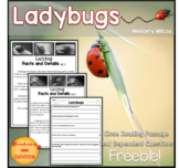 Ladybug Close Reading Passage Freebie!