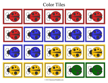 Ladybug Color Mats