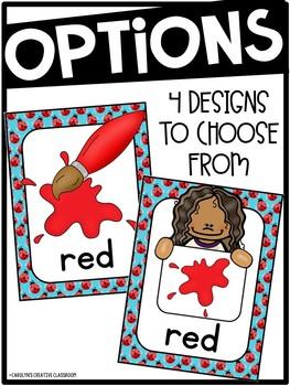 Ladybug Color Posters - Ladybug Decor