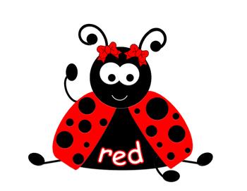 Ladybug Color Word Posters