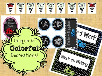 Ladybug Colorful Classroom Theme Bundle
