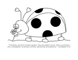 Ladybug Coloring Page which correlates to the Insect Theme