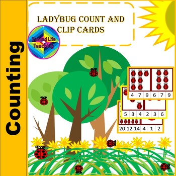 Ladybug Count and Clip Cards 1 -20
