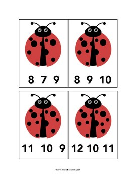 Ladybug Count and Clip Cards