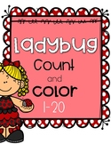 Ladybug Count and Color 1-20