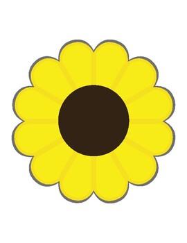 Ladybug Counters, Sunflower Cards, Preschool, Homeschool, Kindergarten