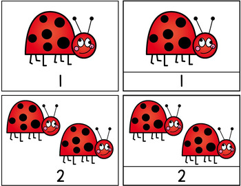 Math Spring & Summer / Counting Ladybugs 1-10 / Hands-on / Montessori style