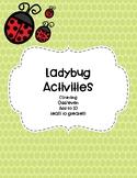 Ladybug Counting Activities