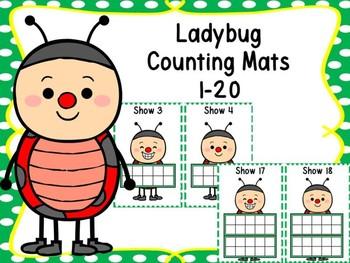 Ladybug Counting Mats 1-20