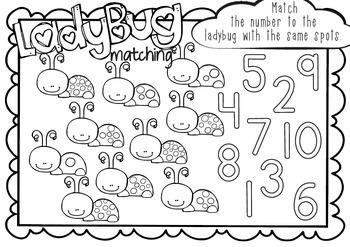 Ladybug Counting - Numbers 1-10