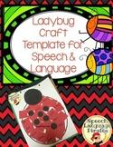 Ladybug Craft Template for Speech & Language FREEBIE