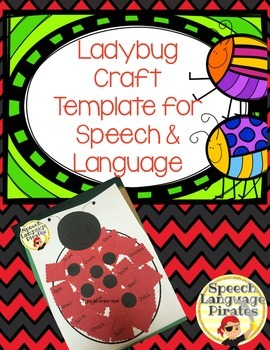 Ladybug Craft Template for Speech & Language FREEBIE