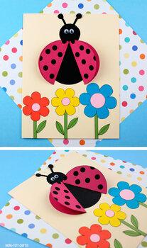 Ladybug Craft for Spring and Summer - 3D Paper Ladybug