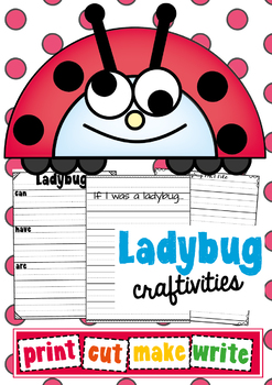 Ladybug Paper Craft Craftivities - Print Cut Make Write